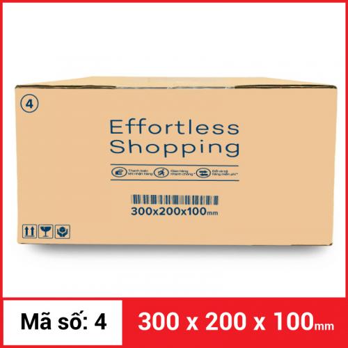 Thùng Carton gói hàng kích thước 300x200x100mm-5