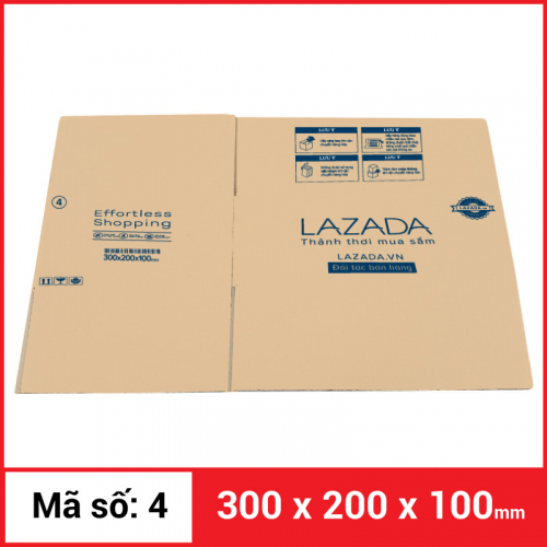 Thùng Carton gói hàng kích thước 300x200x100mm-6