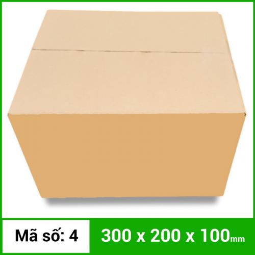 Thùng Carton gói hàng kích thước 300x200x100mm không in-3