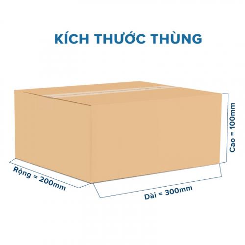 Thùng Carton gói hàng kích thước 300x200x100mm không in-4