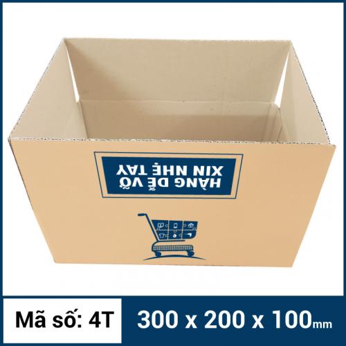 Thùng Carton gói hàng kích thước 300x200x100mm mẫu giỏ hàng-1