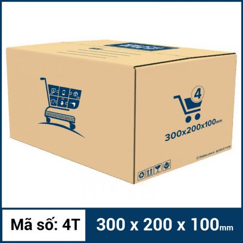 Thùng Carton gói hàng kích thước 300x200x100mm mẫu giỏ hàng
