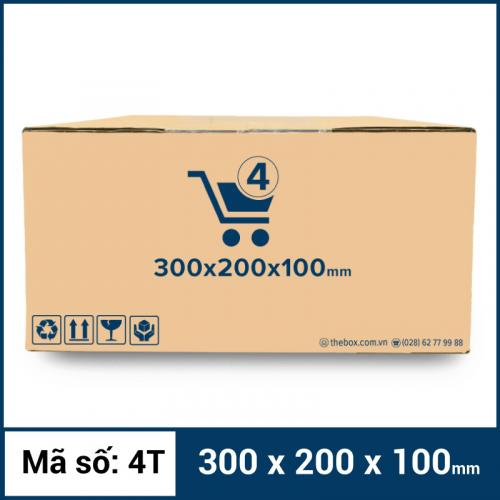 Thùng Carton gói hàng kích thước 300x200x100mm mẫu giỏ hàng-3