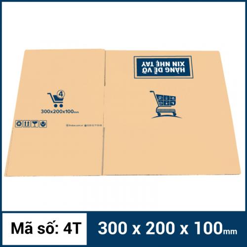 Thùng Carton gói hàng kích thước 300x200x100mm mẫu giỏ hàng-4