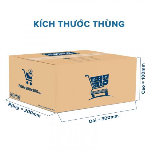 Thùng Carton gói hàng kích thước 300x200x100mm mẫu giỏ hàng-6