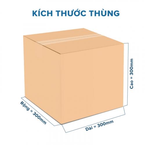 Thùng Carton gói hàng kích thước 300x300x300mm không in-1