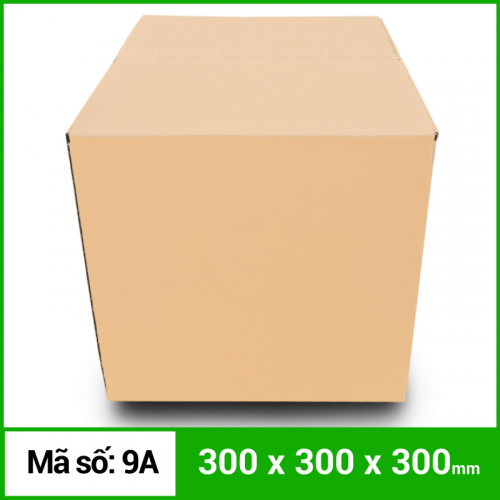 Thùng Carton gói hàng kích thước 300x300x300mm không in-3