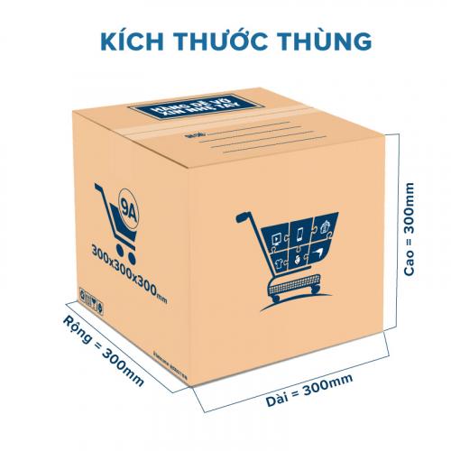Thùng Carton gói hàng kích thước 300x300x300mm mẫu giỏ hàng-2