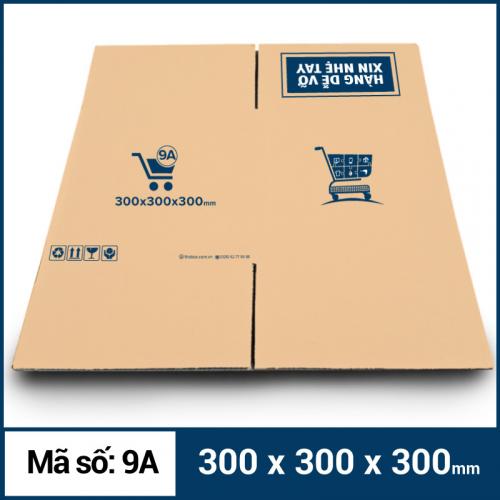 Thùng Carton gói hàng kích thước 300x300x300mm mẫu giỏ hàng-4