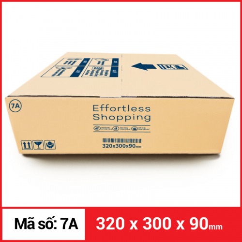 Thùng Carton gói hàng kích thước 320x300x90mm-4