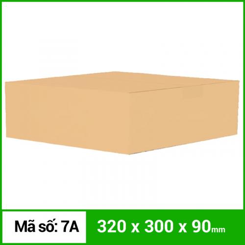 Thùng Carton gói hàng kích thước 320x300x90mm không in