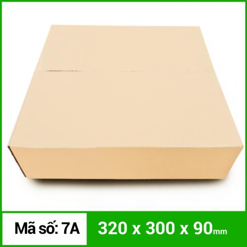 Thùng Carton gói hàng kích thước 320x300x90mm không in-2
