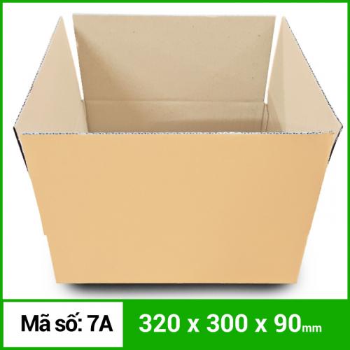 Thùng Carton gói hàng kích thước 320x300x90mm không in-5