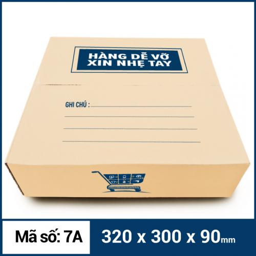 Thùng Carton gói hàng kích thước 320x300x90mm mẫu giỏ hàng-1