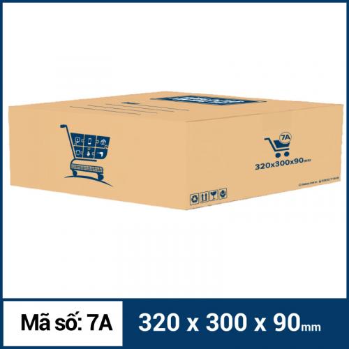 Thùng Carton gói hàng kích thước 320x300x90mm mẫu giỏ hàng