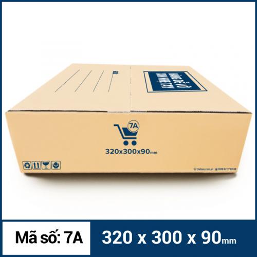 Thùng Carton gói hàng kích thước 320x300x90mm mẫu giỏ hàng-2