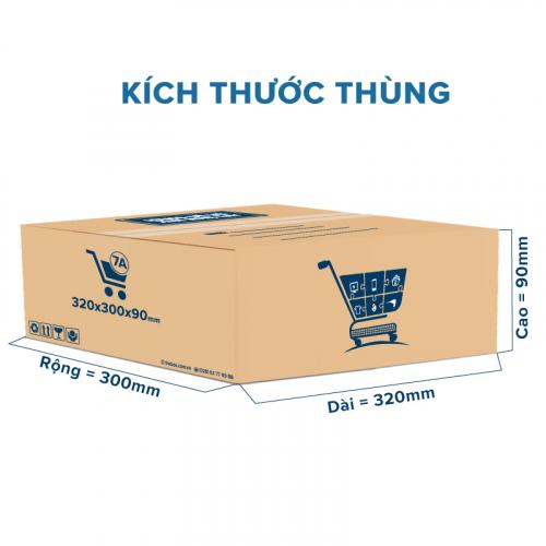 Thùng Carton gói hàng kích thước 320x300x90mm mẫu giỏ hàng-5