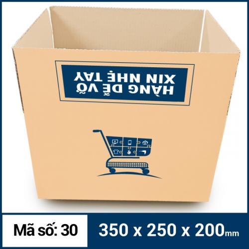 Thùng Carton gói hàng kích thước 350x250x200mm mẫu giỏ hàng-2