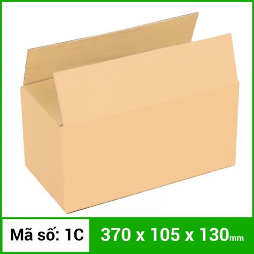 Thùng Carton gói hàng kích thước 370x105x130mm không in