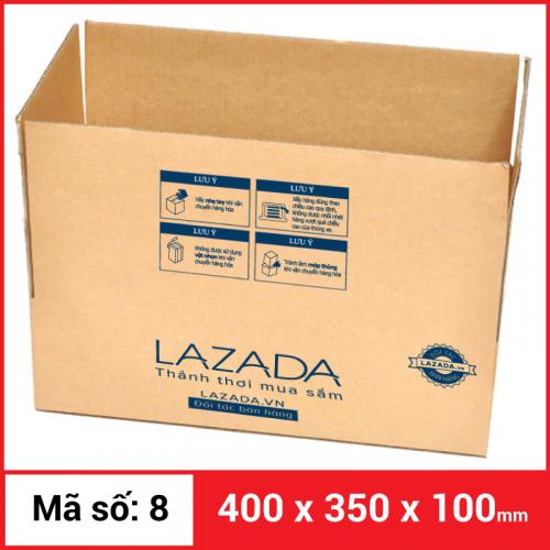 Thùng Carton gói hàng kích thước 400x350x100mm-5