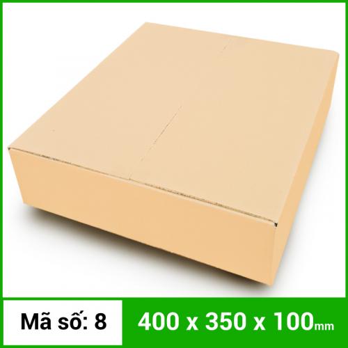 Thùng Carton gói hàng kích thước 400x350x100mm không in-1
