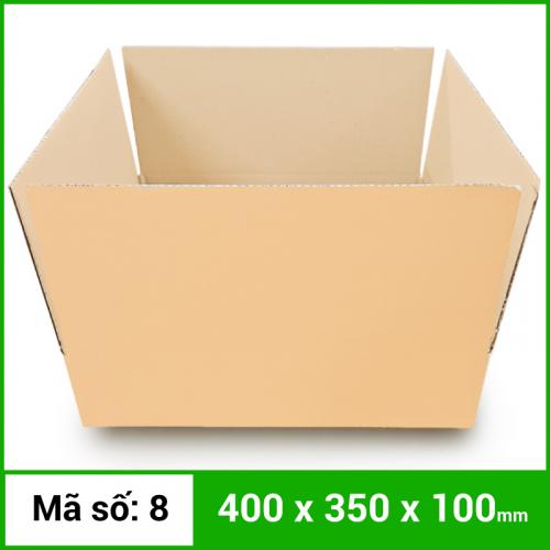 Thùng Carton gói hàng kích thước 400x350x100mm không in-2