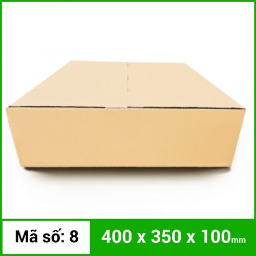 Thùng Carton gói hàng kích thước 400x350x100mm không in-4