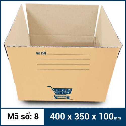 Thùng Carton gói hàng kích thước 400x350x100mm mẫu giỏ hàng-3