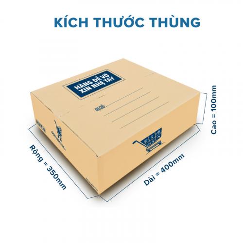 Thùng Carton gói hàng kích thước 400x350x100mm mẫu giỏ hàng-4