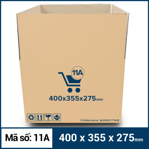 Thùng Carton gói hàng kích thước 400x355x275mm mẫu giỏ hàng-2