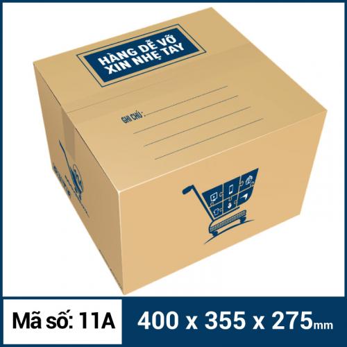 Thùng Carton gói hàng kích thước 400x355x275mm mẫu giỏ hàng-4