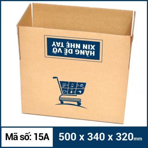 Thùng Carton gói hàng kích thước 500x340x320mm mẫu giỏ hàng-1