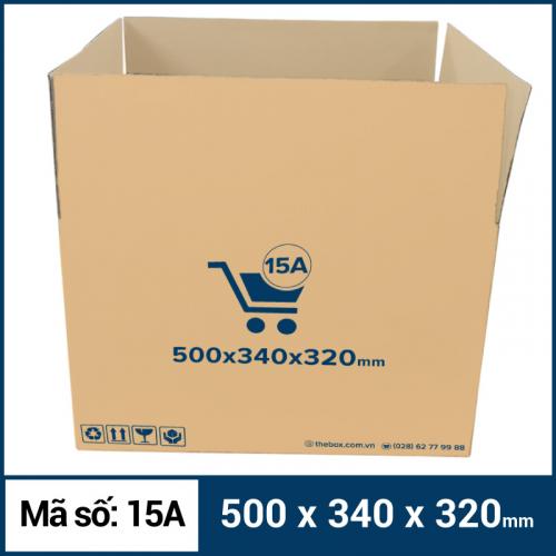 Thùng Carton gói hàng kích thước 500x340x320mm mẫu giỏ hàng-2