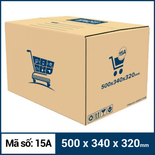 Thùng Carton gói hàng kích thước 500x340x320mm mẫu giỏ hàng-5