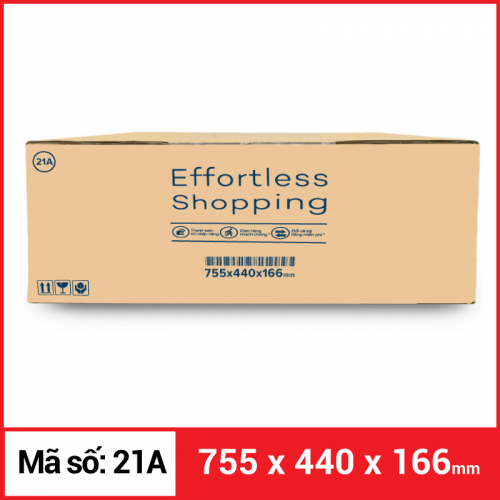 Thùng Carton gói hàng kích thước 755x440x166mm-2