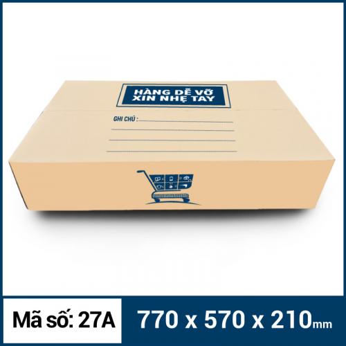 Thùng Carton gói hàng kích thước 770x570x210mm mẫu giỏ hàng-1