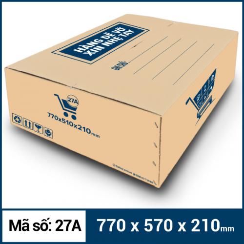 Thùng Carton gói hàng kích thước 770x570x210mm mẫu giỏ hàng