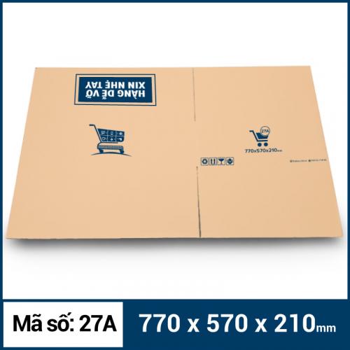 Thùng Carton gói hàng kích thước 770x570x210mm mẫu giỏ hàng-2