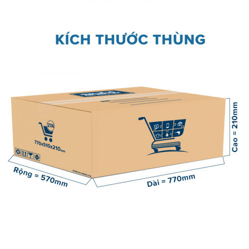 Thùng Carton gói hàng kích thước 770x570x210mm mẫu giỏ hàng-5