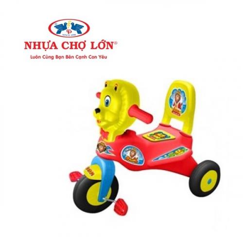 Xe 3 bánh thổi Nhựa Chợ Lớn - L7 Con sư tử - M1222B-X3B (Có nhạc)-1