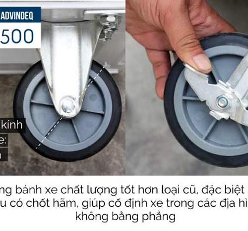 Xe đẩy hàng 4 bánh sàn thép ADVINDEQ TL-500-3