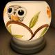 Đèn xông tinh dầu gốm Bát Tràng - Đôi Chim Cú-3