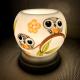 Đèn xông tinh dầu gốm Bát Tràng - Đôi Chim Cú-4