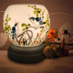 Đèn xông tinh dầu gốm Bát Tràng - Đôi Chim Xanh-3