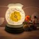 Đèn xông tinh dầu gốm Bát Tràng - Hoa Vàng-1
