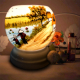 Đèn xông tinh dầu gốm Bát Tràng - Phong Cảnh Câu Cá-3