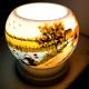 Đèn xông tinh dầu gốm Bát Tràng - Phong Cảnh Câu Cá-2