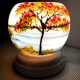 Đèn xông tinh dầu gốm Bát Tràng - Phong Cảnh Đồng Lúa-4