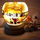 Đèn xông tinh dầu gốm Bát Tràng - Phong Cảnh Đồng Lúa-2