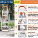 Thang nhôm ghế 6 bậc xếp gọn Advindeq ADS706-7